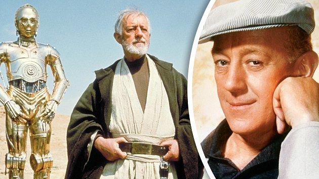 Alec Guinness. Svou roli ve Hvězdných válkách upřímně nesnášel.