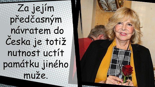 Hana Zagorová nechala manžela vLondýně kvůli památce Karla Svobody.