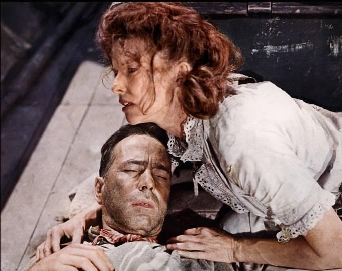 VAfrické královně (1951) sKatharine Hepburn. Po  Casablance asi Humphreyho nejslavnější film.
