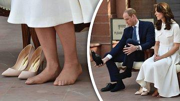 Kate Middletonová s Williamem na návštěvě v Indii