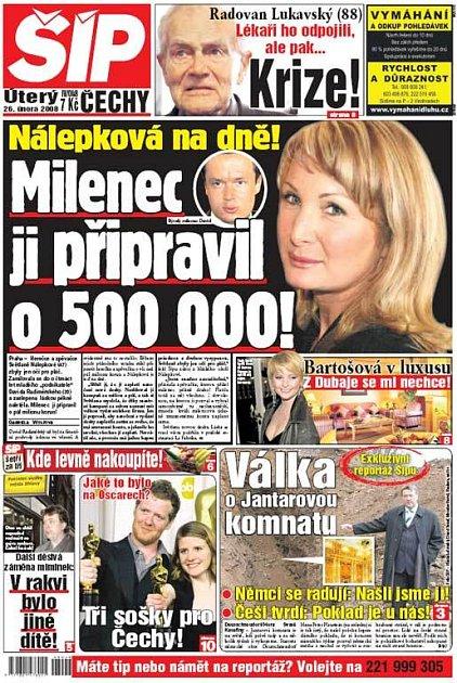 Titulka 26. 2. 2008
