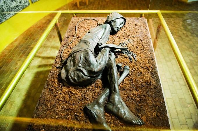 Tollundský muž je hvězdou expozice muzea v Silkeborgu.