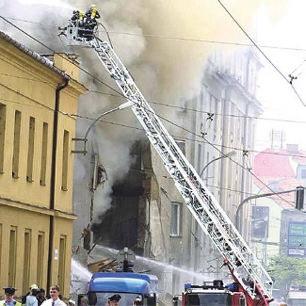Brno, Tržní ulice při výbuchu