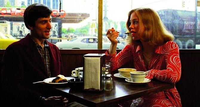 Robert De Niro aCybill společně vefilmu Taxikář (1976).