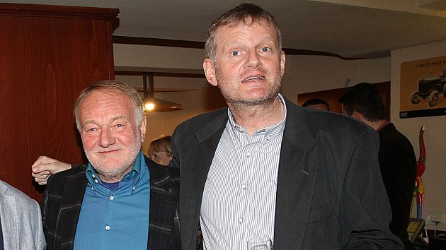 Luděk Sobota se synem Ladislavem