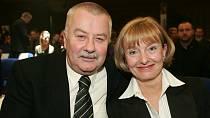 Celoživotní oporou byla Ladislavu Potměšilovi jeho manželka Jaroslava Brousková.