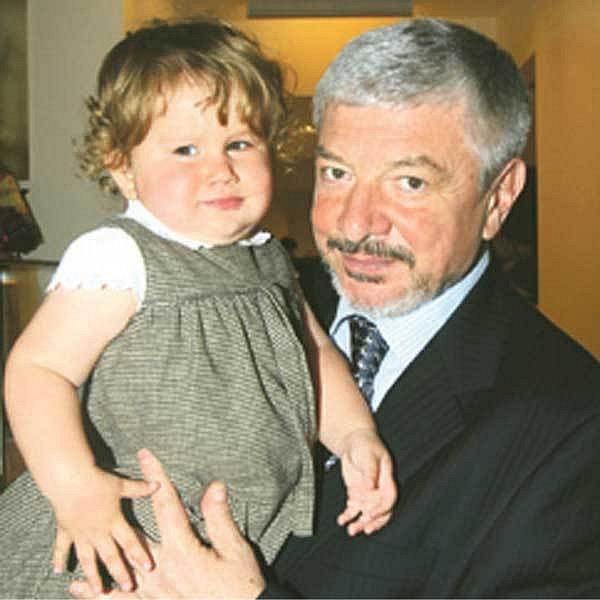 Vladimír Železný s dcerou