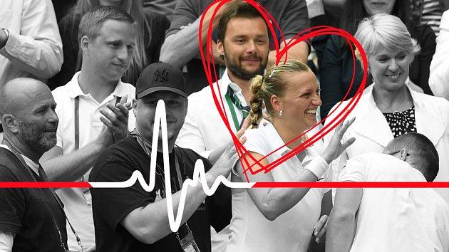 Marek Jankulovski v lóži Petry Kvitové krátce po jejím vítězství ve Wimbledonu. Je to tajná láska?