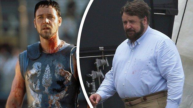 Herec udivuje nadváhou, o postavě Gladiátora může dnes už jen snít.
