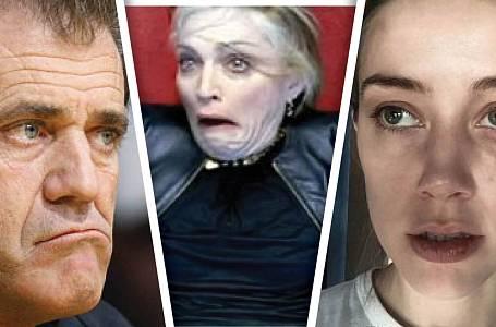 Mel Gibson, Madonna a Amber Heard.