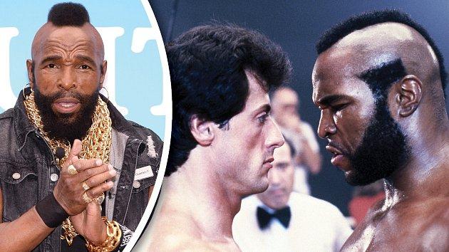 Mr. T nyní a ve filmu Rocky 3.