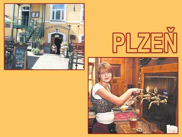 Restaurace nabízí posezení i venku. Uvnitř hosty obslouží Petra Tupá.