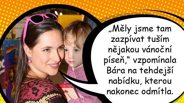 Bára Vaculíková to měla vobdobí dospívání těžké. Matka Petra Černocká ji dokonce vyhodila zdomu.
