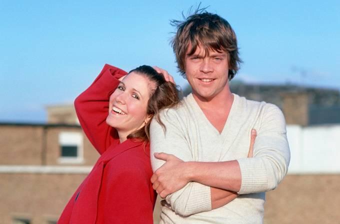 S Carrie Fischer, která ve Hvězdných válkách hrála princeznu Leiu.