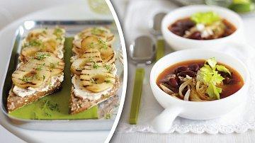 Omamné bagetky a polévka zfazolí arumu