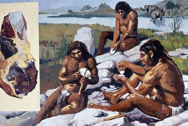 Pravěká tlupa lovců mamutů.
