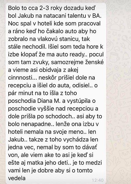 Jakub Prachař nevěra