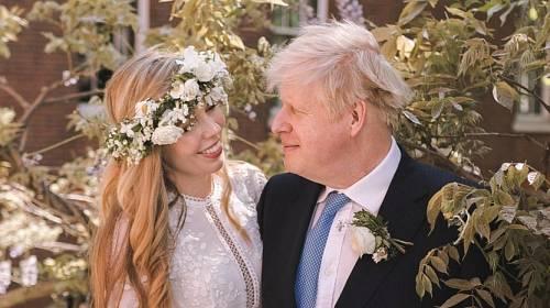 Boris Johnson se svou manželkou