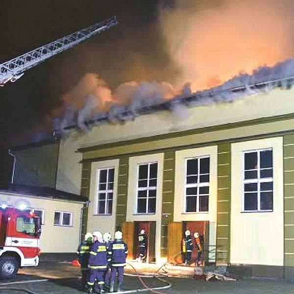 Požár v Uherském Brodě