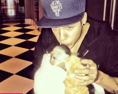 Justin Bieber chce být novodobý král popu a tak si pořídil taky opici