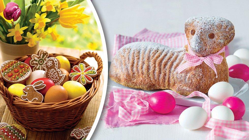Vajíčky, perníčky a beránek. To vše patří k Velikonocům.