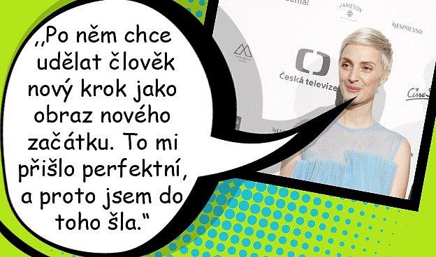 Bára Poláková řeší rozchod radikální změnou účesu.