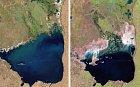 Mar Chiquita je největší slané jezero v celé jižní Americe. Nachází se v Argentině a jak je patrné podle fotky, vysychá. Tady se ale nebavíme o několika desítkách let vysychání, ale jen o pár rocích. První fotka je z roku 1998, ta druhá 2011.