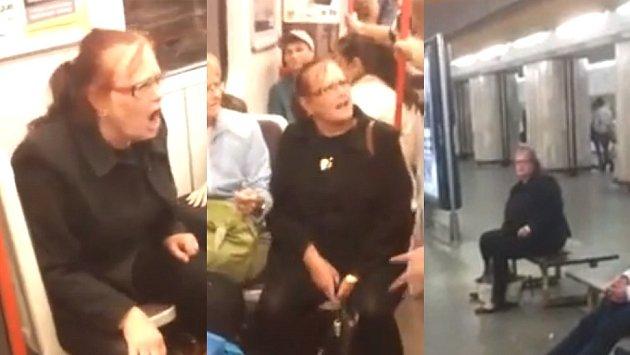Paní v metru zjevně nebyla úplně v pořádku!