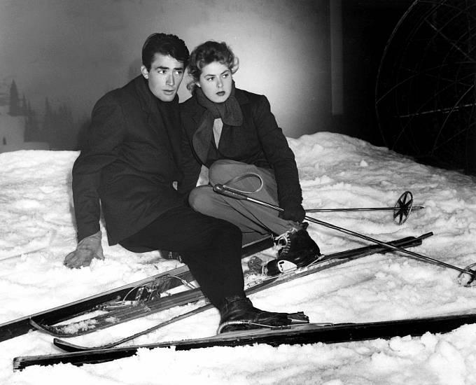 FIlm Alfreda Hitchcocka Rozdvojená duše (1945). Ingrid aGregory Peck byli milenci imimo kameru.