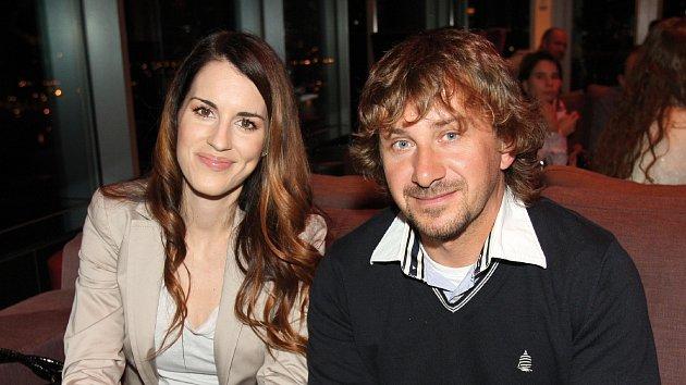 Lucie Křížková s manželem.