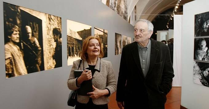Manželé Magda Vašáryová a Milan Lasica