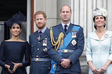 Meghan Markle, princ Harry, princ William a Kate Middleton