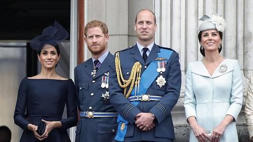 Meghan Markle, princ Harry, princ William a Kate Middleton