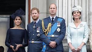 Princ Harry, Meghan Markle, princ William, Kate Middleton