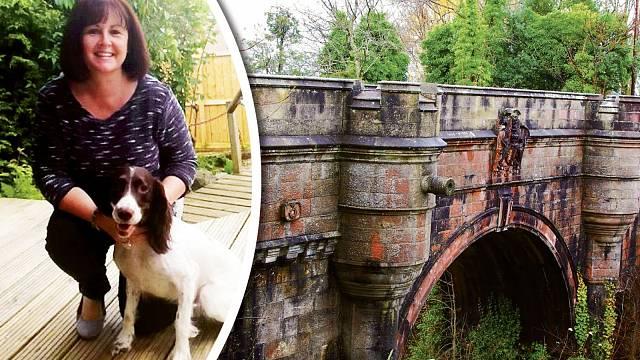 Z mostu skočila také fenka Cassie. Naštěstí přežila.