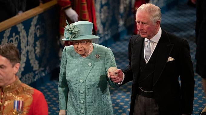 Alžběta II. a princ Charles