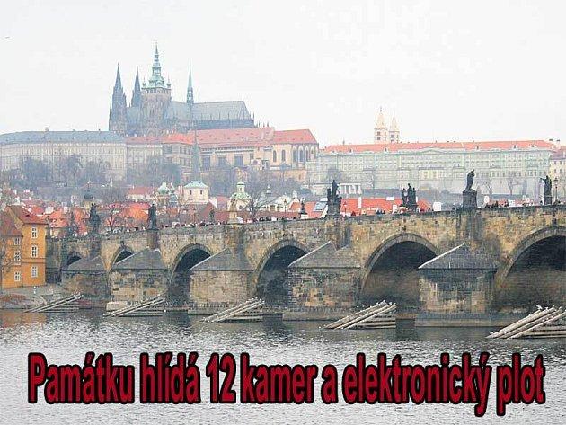 Karlův most hlídá 12 kamer.