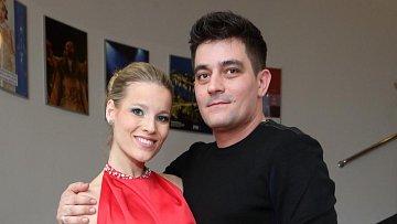 Michaela Gemrotová s přítelem Alexandrem Kopkou