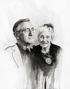 """""""Tajemství šťastného manželství je v dávání a braní, musíte brát na druhého ohledy. My se o to vždy snažili. Problémy musíte řešit, nikdy to nevzdávejte. Nečekejte příliš, buďte šťastní za to, co máte,"""" říkají Archie a Sheilla, brali se v roce 1952."""