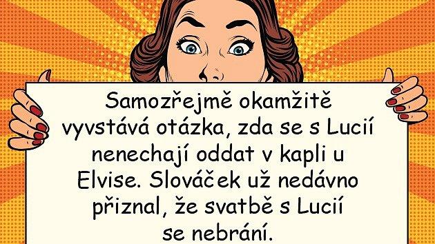 Felix Slováček se svatbě sLucií Gelemovou rozhodně nebrání.