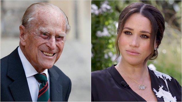 Princ Philip a Meghan Markle
