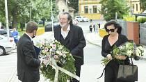 Poslední rozloučení s Libuší Šafránkovou ve Šlapanicích