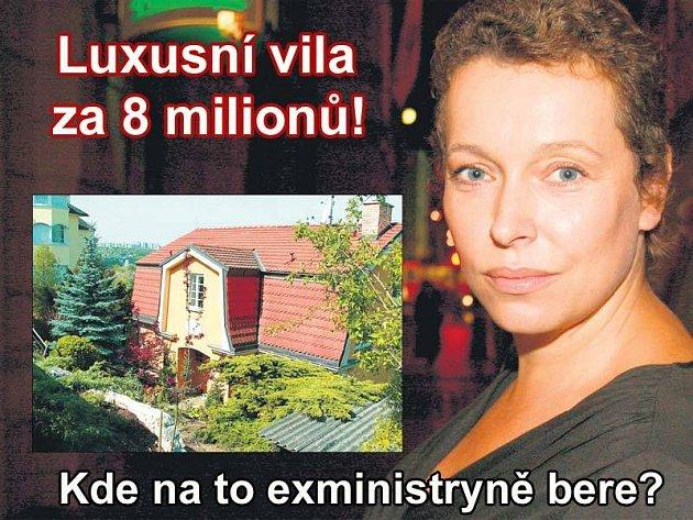 Honosná vila Petry Buzkové a jejího manžela Josefa Kotrby v Praze-Braníku.