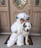 Chtěla jít na Halloween za jejich psa.
