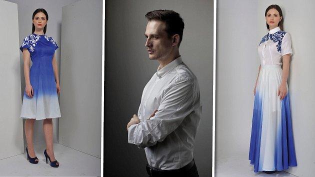 Návrhář Libor Komosný se snažil ve své kolekci spojit krojové inspirace se současnou módou.