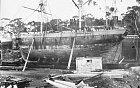 Loď Velocity v doku v Hobartu. Co vlastně viděla její posádka? To už se nedozvíme.