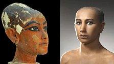 Tutanchamon zemřel ve věku cca 18 let. Vypadal takto.
