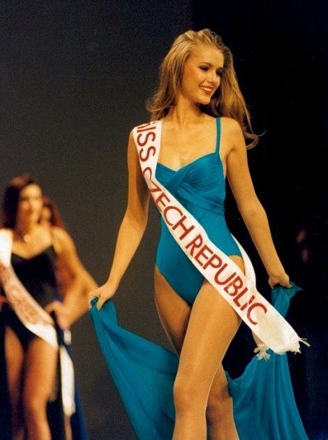 Takhle Monika Žídková zářila před dvaceti lety na Miss Europe.