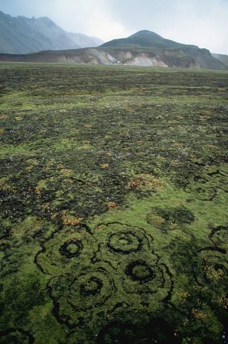 Také na Islandu lze nalézt podivné kruhy.