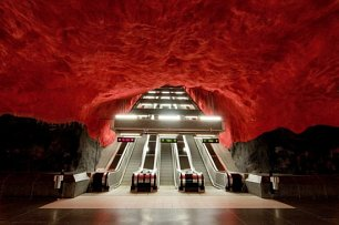 Stockholmské metro.